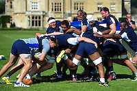 David Wilson of Bath Rugby in action at the back of a maul. Bath Rugby pre-season training session on August 9, 2016 at Farleigh House in Bath, England. Photo by: Patrick Khachfe / Onside Images