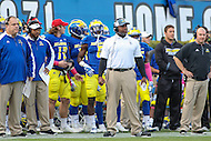 Newark, DE - October 29, 2016: Delaware Fightin Blue Hens head coach Dennis Dottin-Carter during game between Towson and Delware at  Delaware Stadium in Newark, DE.  (Photo by Elliott Brown/Media Images International)