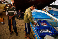 Gaza City, June 6, 2010.Gaza fishermen are typical victims of the Israel blockade of Gaza, as Israel is illegally enforcing a 3 miles fishing zone instead of the normal 12. Gaza fishermen are regularly targeted by the Israeli navy, even within this limit thus preventing them to bring back 'normal' catches.