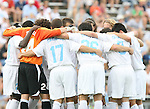 North Carolina's starters huddle up before the game on Sunday September 3rd, 2006 at Fetzer Field on the campus of the University of North Carolina Chapel Hill in Chapel Hill, North Carolina. The North Carolina Tarheels defeated the Penn State Nittany Lions 1-0 in an NCAA Division I Men's Soccer game.