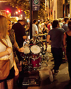 Drum kit outside Tir Na Nog, Blount Street, Hopscotch Music Festival, Raleigh, N.C., Friday, September 7, 2012