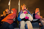 Families enjoy music before the Los Altos tree lighting Dec. 7.