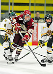 16 October 2010: Boston College Eagles' defender Jessica Martino, a Junior from Winthrop, MA, in action against the University of Vermont Catamounts at Gutterson Fieldhouse in Burlington, Vermont. The Eagles defeated the Lady Cats 4-1 in the second game of their weekend series. Mandatory Credit: Ed Wolfstein Photo