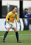 Penn State goalkeeper Erin McLeod. The University of Portland Pilots defeated the Penn State University Nittany Lions 4-3 in a penalty kick shootout after the teams played to a 0-0 overtime tie at Aggie Soccer Stadium in College Station, Texas, Friday, December 2, 2005.