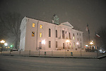 Lafayette County Courthouse in the snow in Oxford, Miss., on Sunday, January 9, 2011.