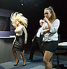 Saxon Court <br /> by Daniel Andersen <br /> at Southwark Playhouse, London, Great Britain <br /> press photocall <br /> 24th November 2014 <br /> <br /> <br /> <br /> Alice Franklin as Tash <br /> <br /> <br /> <br /> John Pickard as Joey <br /> <br /> <br /> <br /> Sophie Ellerby as Nat <br /> <br /> <br /> Photograph by Elliott Franks <br /> Image licensed to Elliott Franks Photography Services