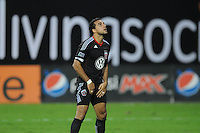 D.C. United forward Dwayne De Rosario (7) after missing a penalty kick in the 94th minute of the game. Chivas USA tied D.C. United 2-2 at RFK Stadium, Wednesday  September 20 , 2011.