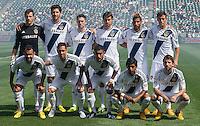 CARSON, CA - March 17, 2013: LA Galaxy Starting line up for the LA Galaxy vs Chivas USA game at the Home Depot Center in Carson, California. Final score LA Galaxy 1, Chivas USA 1.