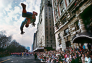 New York, U.S.A, 26th, November, 1987. Spiderman seen at the famous Macy's Thanksgiving Parade.