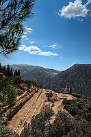 Ancient Gymnasium (4th cent. B.C.) in Delphi, Greece