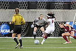 02 December 2011: Stanford's Chioma Ubogagu (9) scores the game's first goal against Florida State's Kelsey Wys (19). The Stanford University Cardinal defeated the Florida State University Seminoles 3-0 at KSU Soccer Stadium in Kennesaw, Georgia in an NCAA Division I Women's Soccer College Cup semifinal game.