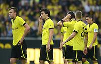 Fussball 1. Bundesliga :  Saison   2012/2013   8. Spieltag  20.10.2012 Borussia Dortmund - FC Schalke 04 Kevin Grosskreutz, Mats Hummels und Lukasz Piszczek (v. li. Borussia Dortmund)