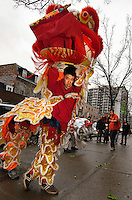 Chineese New year, Lion dance, chineese quarter, Montreal.