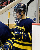 Brandon Brodhag (Merrimack - 12) - The visiting Merrimack College Warriors tied the Boston University Terriers 1-1 on Friday, November 12, 2010, at Agganis Arena in Boston, Massachusetts.