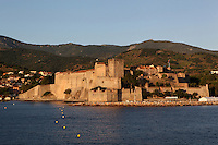 Chateau Royal, Collioure, France. Much of the castle was built in the 13th and 14th centuries by the Dukes of Roussillon and the Knights Templar. In the 16th century Collioure was under Spanish control and Philip II modernised and reinforced the castle. It was taken by the French in 1659 after which the bastions were built by Vauban (1633-1707). Picasso, Matisse, Derain, Dufy, Chagall, Marquet, and many others immortalized the small Catalan harbour in their works. Picture by Manuel Cohen.