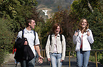 ".""A Day in the Life of BYU""..9/22/04..GCS- Students leaving campus for the day. Y Mountain in the Background..L->R .Matthew Graff (232-9620).Amy Shoemaker (Beige jacket).Vicki Bingham (631-5646)..Photo by Jaren Wilkey/BYU..Copyright BYU PHOTO 2004 .photo@byu.edu  801-422-7322.0409-30 GCS Day at BYU."