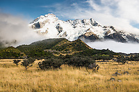 Mount Sefton and Footstool, Aoraki, Mt. Cook National Park, Mackenzie Country, UNESCO World Heritage Area, New Zealand