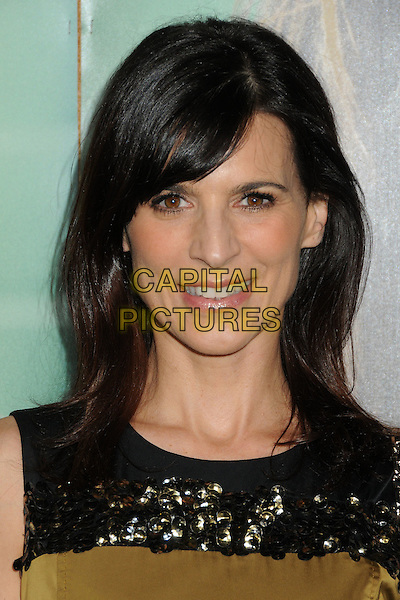 """Perrey Reeves.HBO's """"Enlightened"""" Los Angeles Premiere held at Paramount Studios, Los Angeles, California, USA. .October 6th, 2011.headshot portrait black gold green.CAP/ADM/BP.©Byron Purvis/AdMedia/Capital Pictures."""