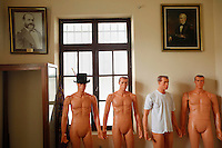 Mannequins in the office of the naval school in La Paz, Bolivia, in March, 2011. Bolivia lost what is now northern Chile in a war over nitrates leaving Bolivia without access to the ocean.