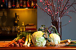 Some of the raw ingredients that chef Chris Israel uses for pickling, including cabbage, leeks, beets, cucumbers, and carrots