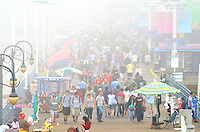 Heavy fog blankets the Santa Monica Pier. (Friday, April 20, 2012)