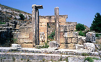 Libya   Cyrene.Archaeological site, Apollo sanctuary,  .City founded by the Greek 3rd century BC.Agora.UNESCO World Heritage Site......