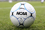 13 December 2009: NCAA match ball. The University of Virginia Cavaliers defeated the University of Akron Zips 3-2 on penalty kicks after playing to a 0-0 overtime tie at WakeMed Soccer Stadium in Cary, North Carolina in the NCAA Division I Men's College Cup Championship game.