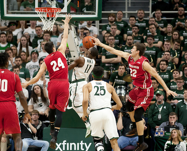 Wisconsin Bball at Mich State 2017