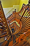 22 October 2011: The interior staircase at Hotel Providence, visited by Members of the New England Conference of Architectural Boards at their Annual Fall Meeting at Mathewson Street,  in Providence, Rhode Island.  Mandatory Credit: Ed Wolfstein Photo
