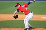 Ole Miss' Trent Rothlin (21) pitches vs. Wright State at Oxford University Stadium in Oxford, Miss. on Sunday, February 20, 2011. Ole Miss won 6-5 to improve to 3-0 on the season.
