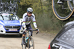 World Champion Peter Sagan (SVK) Bora-Hansgrohe takes a tow on gravel sector 3 Radi during the 2017 Strade Bianche running 175km from Siena to Siena, Tuscany, Italy 4th March 2017.<br /> Picture: Eoin Clarke | Newsfile<br /> <br /> <br /> All photos usage must carry mandatory copyright credit (&copy; Newsfile | Eoin Clarke)