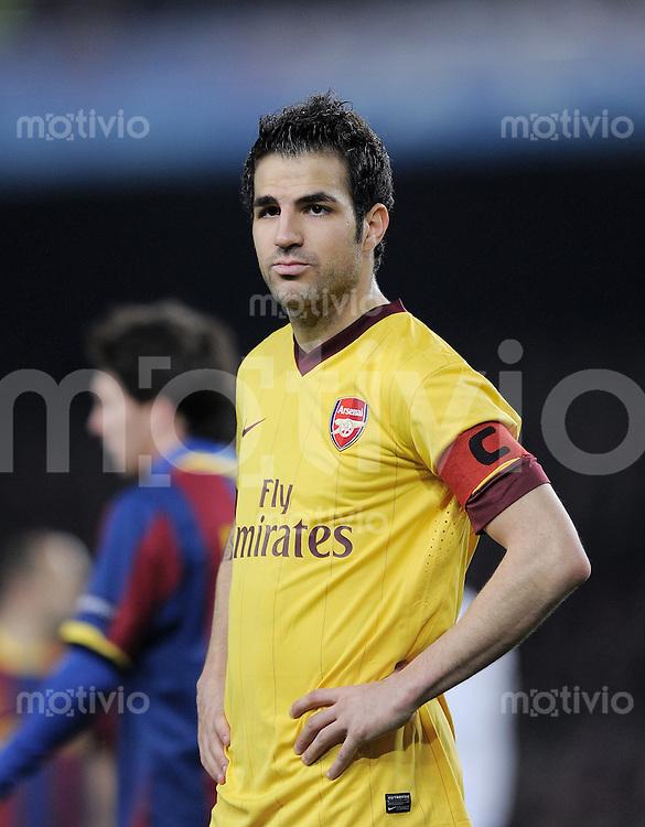 FUSSBALL   CHAMPIONS LEAGUE   SAISON 2010/2011   Achtelfinale  08.03.2011 FC Barcelona - Arsenal London Cesc Fabregas (Arsenal)