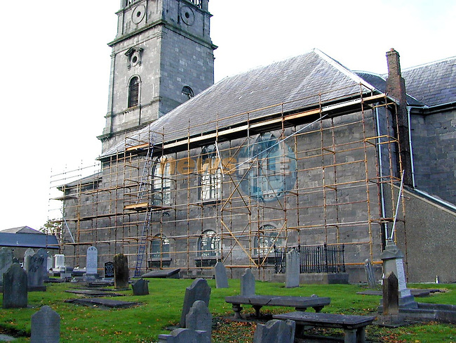 Scaffolding at St. Peter's Church in Peter Street..Picture Paul Mohan Newsfile