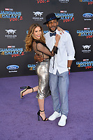 Allison Holker &amp; Stephen Boss at the world premiere for &quot;Guardians of the Galaxy Vol. 2&quot; at the Dolby Theatre, Hollywood. <br /> Los Angeles, USA 19 April  2017<br /> Picture: Paul Smith/Featureflash/SilverHub 0208 004 5359 sales@silverhubmedia.com