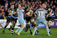Tom Ellis of Bath Rugby takes on the Northampton Saints defence. Aviva Premiership match, between Bath Rugby and Northampton Saints on December 5, 2015 at the Recreation Ground in Bath, England. Photo by: Patrick Khachfe / Onside Images