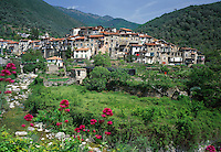 Italy, Liguria, Rochetta-Nervina: mountain village near Ventimiglia, inland