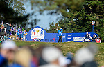 Europe's Rory McIlroy tees off at the 8th hole <br /> <br /> Photographer Ian Cook/CameraSport<br /> <br /> International Golf - 2014 Ryder Cup - Day 1 - Friday 26th September 2014 - PGA Centenary Course - Gleneagles Hotel - Auchterarder, Scotland<br /> <br /> &copy; CameraSport - 43 Linden Ave. Countesthorpe. Leicester. England. LE8 5PG - Tel: +44 (0) 116 277 4147 - admin@camerasport.com - www.camerasport.com
