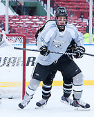 Paul de Jersey (PC - 13) -  - The participating teams in Hockey East's first doubleheader during Frozen Fenway practiced on January 3, 2014 at Fenway Park in Boston, Massachusetts.