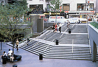 New York: Citicorp Center, Entrance Plaza, corner of 53rd and Lexington.