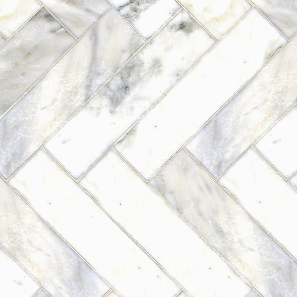 Name: Herringbone 3&quot; x 12&quot; bricks<br /> Style: Classic<br /> Product Number: CB0533<br /> Description: Herringbone 3&quot; x 12&quot; bricks in Calacatta Tia (p)