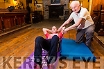 Eric Murphy at 79 years of age hosts a fitness class in Waterville which made the headlines during the week pictured here with Michael Golden who suffered with an autoimmune disease and is now off his injections stunning his doctors with the improvement.