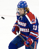 Scott Wilson (UML - 23) - The Boston College Eagles defeated the visiting University of Massachusetts Lowell River Hawks 6-3 on Sunday, October 28, 2012, at Kelley Rink in Conte Forum in Chestnut Hill, Massachusetts.