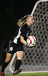 NC State goalkeeper Kim Selz on Thursday, October 20th, 2005 at Fetzer Field in Chapel Hill, North Carolina. The University of North Carolina Tarheels defeated the North Carolina State University Wolfpack 1-0 during an NCAA Division I Women's Soccer game.