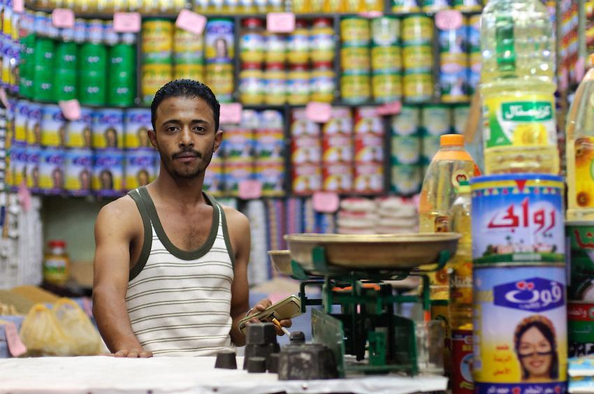 A shopkeeper in Al Kharga