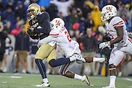 Annapolis, MD - October 8, 2016: Navy Midshipmen wide receiver Brandon Colon (87) scores a touchdown during game between Houston and Navy at  Navy-Marine Corps Memorial Stadium in Annapolis, MD.   (Photo by Elliott Brown/Media Images International)