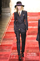 Emily Baker walks runway in an outfit from the Tommy Hilfiger Fall 2011 Bohemian Prep collection, during Mercedes-Benz Fashion Week Fall 2011.