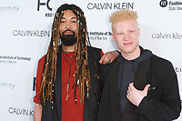 Ty Hunter and Shaun Ross arrive at the Future of Fashion 2017 runway show at the Fashion Institute of Technology on May 8, 2017.