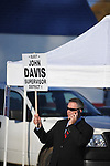 District 1 candidate John Davis holds a sign outside the old National Guard Armory in Oxford, Miss. on Tuesday, November 8, 2011. Mississippians go to the polls today for state and local elections, as well as referendums including the so-called Personhood Amendment.