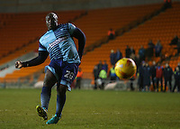 Wycombe Wanderers' Adebayo Akinfenwa scores his penalty in the shootout<br /> <br /> Photographer Alex Dodd/CameraSport<br /> <br /> Checkatrade Trophy Round 3 Blackpool v Wycombe Wanderers - Tuesday 10th January 2017 - Bloomfield Road - Blackpool<br />  <br /> World Copyright &copy; 2017 CameraSport. All rights reserved. 43 Linden Ave. Countesthorpe. Leicester. England. LE8 5PG - Tel: +44 (0) 116 277 4147 - admin@camerasport.com - www.camerasport.com