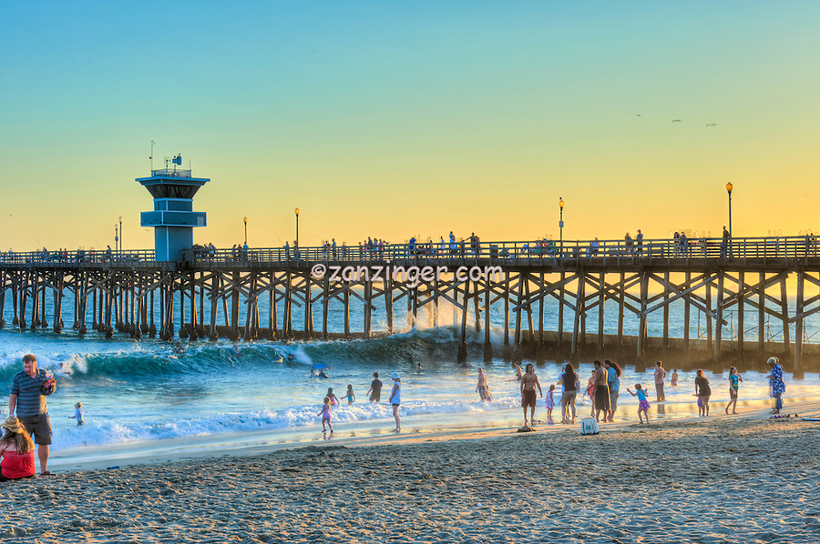 Seal Beach; CA; LA; Beach; Pier, Fantastic Sunset, Hotels, Orange County, Ocean Waves, people Tourist